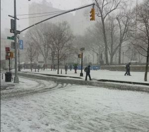 Union Square park around 2 p.m. Monday.